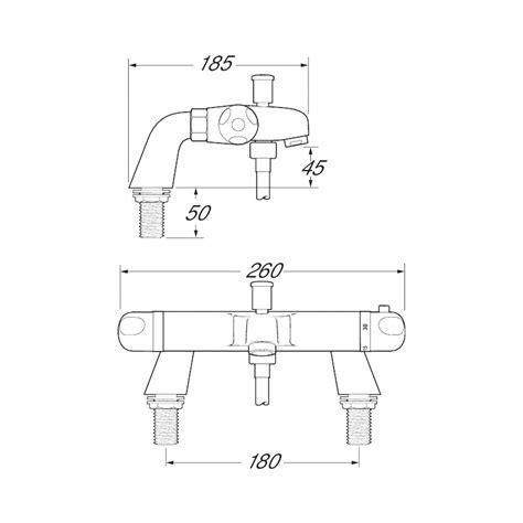 deva thermostatic bath shower mixer deva dynamic pillar mounted thermostatic bath shower mixer