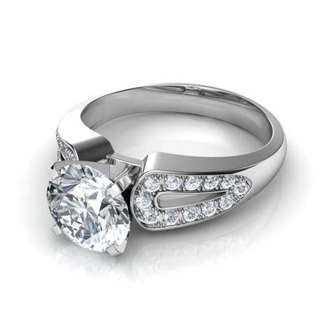 5 Classically Engagement Ring Styles by Split Shank Vintage Style Engagement Ring In 14k
