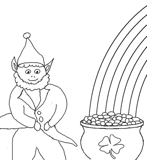 leprechaun coloring pages kids world