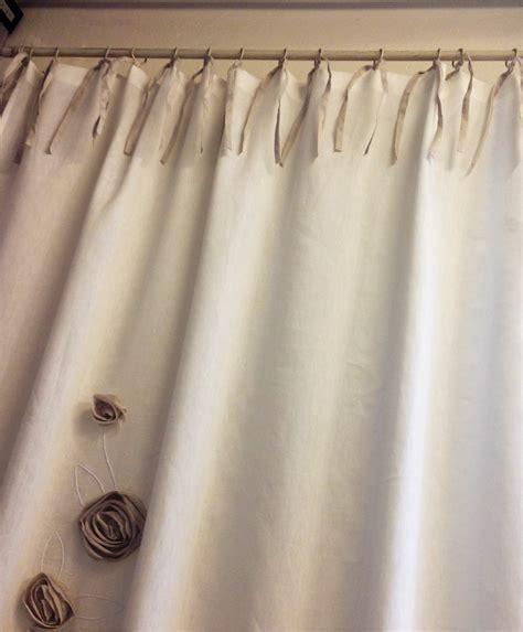 fiori per tende tenda in lino con applicazioni fiori vergnano tendaggi
