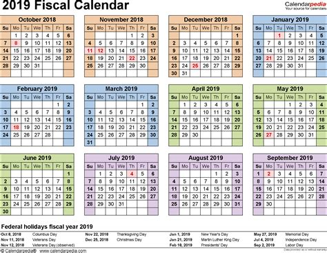printable financial year calendar australia fiscal calendars 2019 as free printable pdf templates