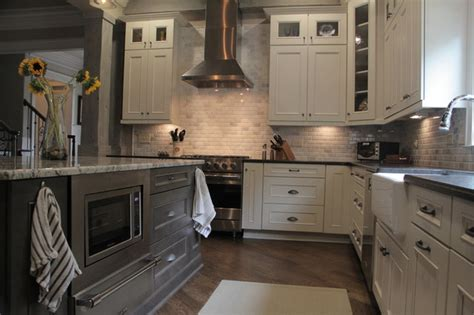 Marsh Kitchen Cabinets by Custom Cabinets Farmhouse Kitchen Other Metro By