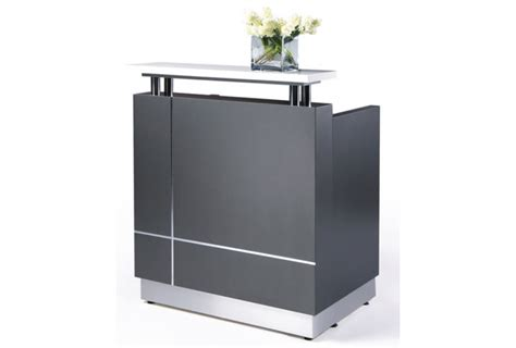 Mini Reception Desk Qt 108 Mini Reception Station White Grey Gwfurniture