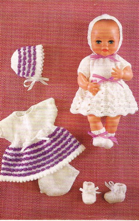 download pattern clothes 12 dolls clothes knitting pattern pdf instant download