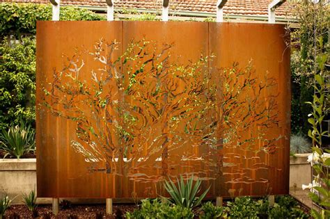 Garden Screen Panels by Decorative Metal Panels Exterior