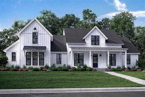 farmhouse home plans modern farmhouse plan 2 742 square 4 bedrooms 3 5