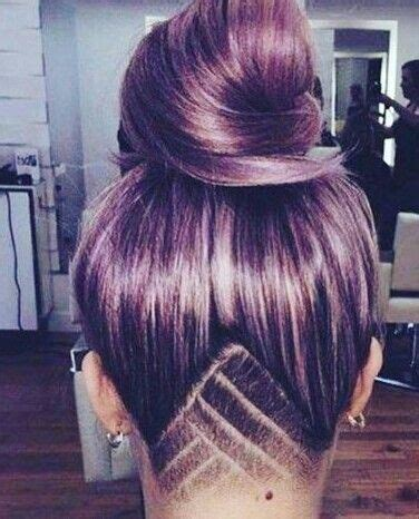 triangle with slight graduation with shaved head 1000 ideas about undercut long hair auf pinterest