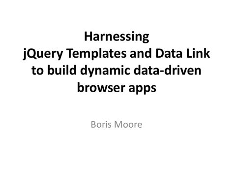 jquery templating harness jquery templates and data link