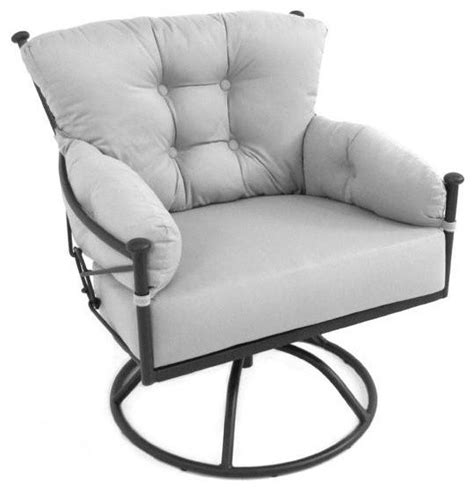 wrought iron swivel patio chairs meadowcraft grayson wrought iron swivel rocker patio club
