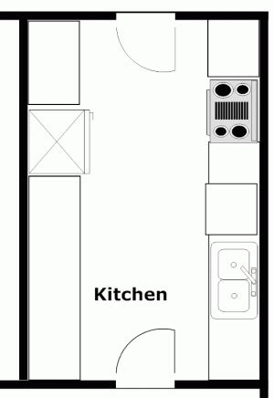 Galley Kitchen Floor Plans Galley Kitchens Kitchen Floor Plans And Layouts
