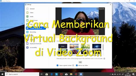 zoom  membuat virtual background  keren youtube