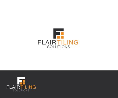 floor and decor logo modern masculine logo design for flair tiling solutions