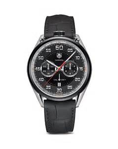 Tag Heuer Cal 1887 Black Orange Leather tag heuer calibre 1887 chronograph stainless steel and black leather 45mm