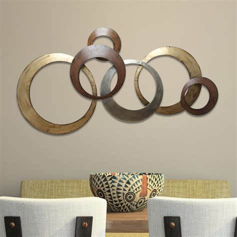 metallic wall decor stratton home decor interlocking circles metal wall decor