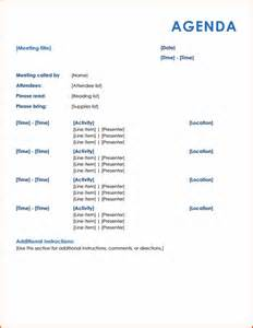Meeting Itinerary Template by 4 Meeting Itinerary Template Bookletemplate Org