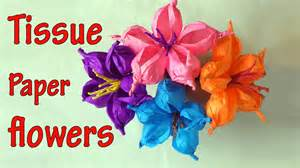 How To Make Flowers Out Of Tissue Paper - diy crafts how to make tissue paper flowers easy