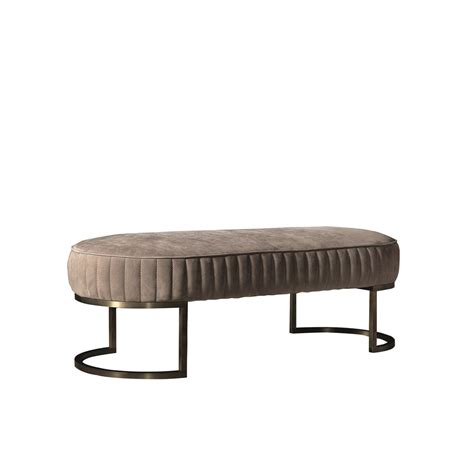 leather bench seat touched d hora leather brass bench seat