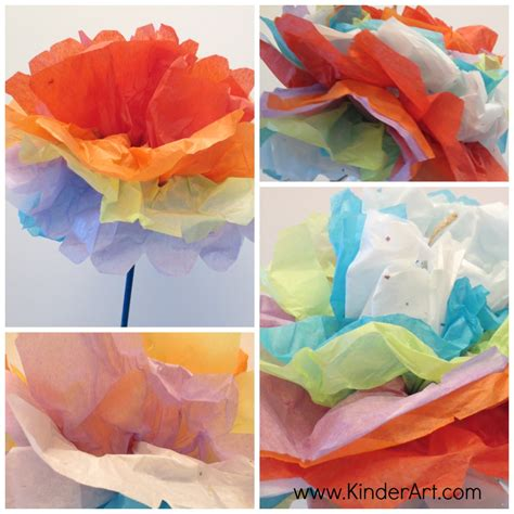 How To Make Tissue Paper Carnations - tissue paper carnations monthly seasonal crafts kinderart