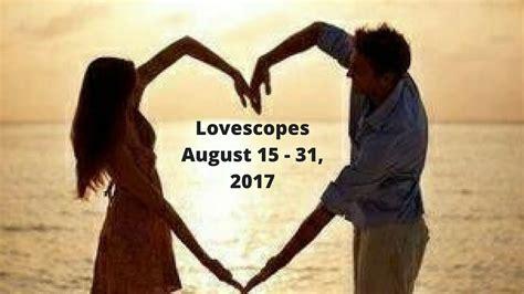 virgo lovescopes august 15th august 31st 2017 love