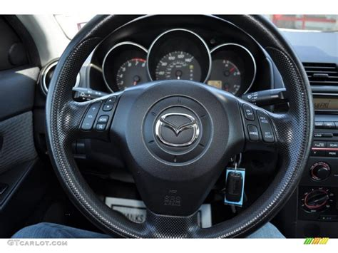 mazda steering wheel 2005 mazda mazda3 i sedan black steering wheel photo