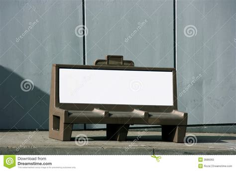 bench ad bench ad royalty free stock photo image 3686065