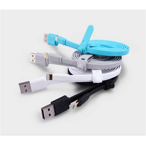 Nillkin Lightning Cable With Led nillkin charger cable lightning for iphone blue