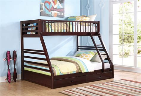 xl bunk bed xl jason espresso bunk bed with drawers