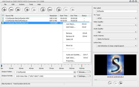 format file video untuk vcd player avi divx to dvd svcd vcd converter download