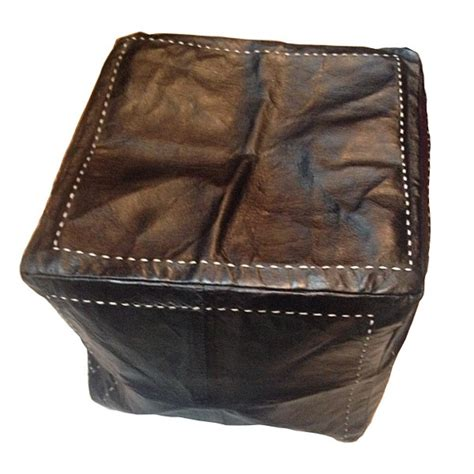 leather moroccan ottoman moroccan leather ottoman hand crafted pouf of marrakesh