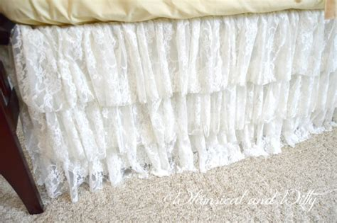 White Lace Crib Skirt by 3 Tier Lace Skirt White Ivory Or Chagne