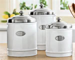 White Canisters For Kitchen by My Favorite New Toys