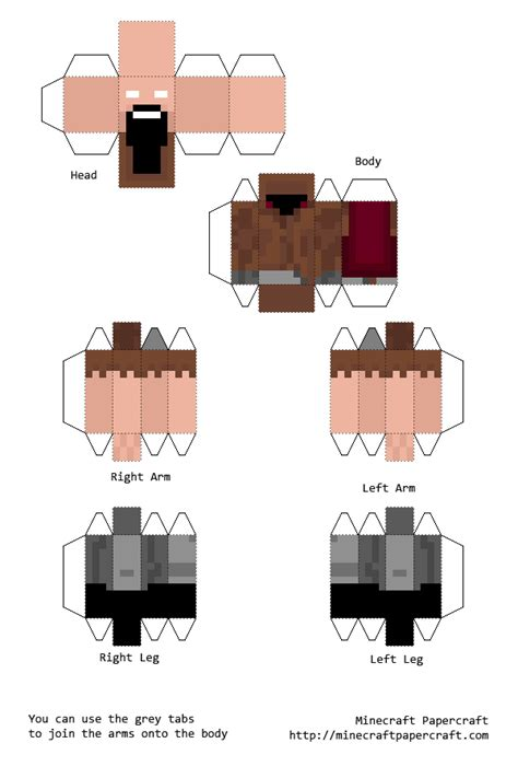 Papercraft Designs - papercraft herobrine notch
