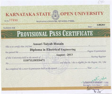 Is Mba From Ksou by Sle Certificate Of Karnataka State Open