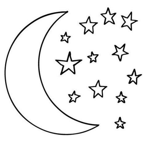 imagenes de luna sol y estrellas para colorear dibujo de la luna y las estrellas para pintar y colorear