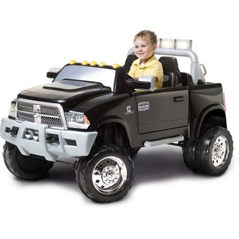 dodge ram powerwheels kid trax ram dually 12 volt battery powered ride on toys