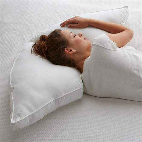 Moon Pillow - posture pillows half moon side sleeper pillow the