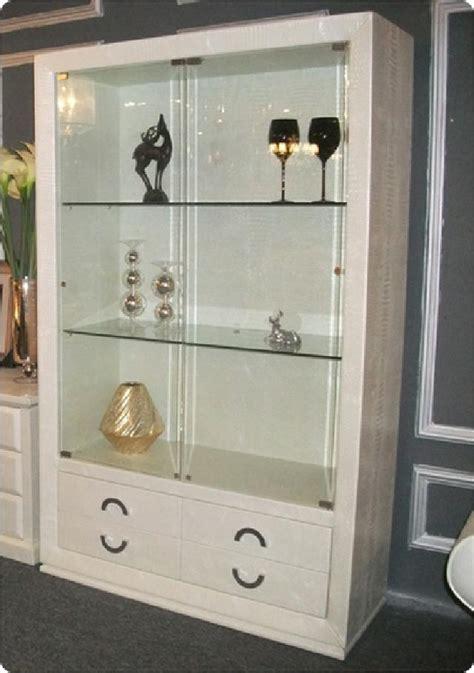 kommode mit vitrine design glas vitrine schrank kommode regal mit steinen ebay