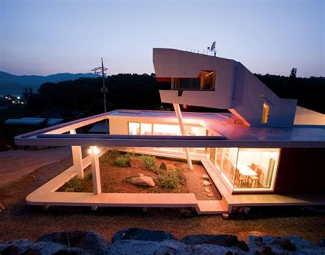 south korea zen house with seven gardens modern