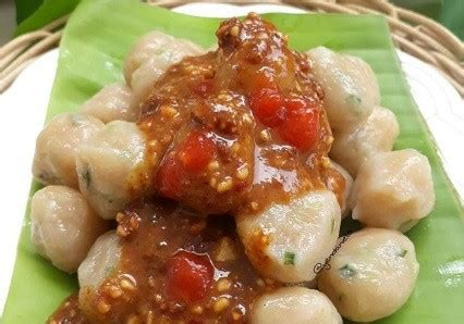 resep cilok udang rasanya gurih pakai sambal kacang pedas