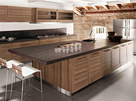 ilot de cuisine en bois cuisine en placage de bois avec 238 lot fiamma by gd