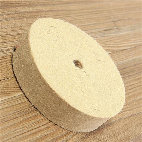 Ath 1 Inch 25mm Wool Felt Polishing Disc 2 3mm Backing Pad 4 inch 100mm polishing buffing wheel wool felt polisher disc pad ebay
