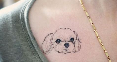 40 amazing dog tattoos for dog lovers maltese tattoo