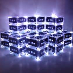 lighted mixtape wedding table centerpieces made to order