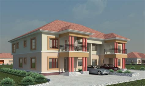 The House Plans 4 bedroom semi detached duplexes our smart cities