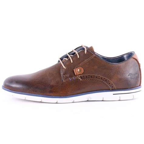 mustang 4879 301 32 mens casual shoes in brown