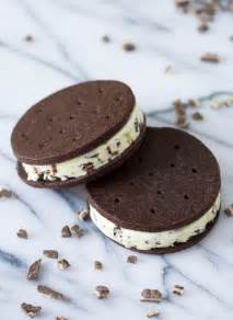 Chocolate Main Dishes - creme de menthe ice cream sandwiches love and olive oil