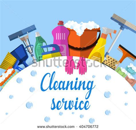 cleaning house music cleaning service flat illustration poster template for