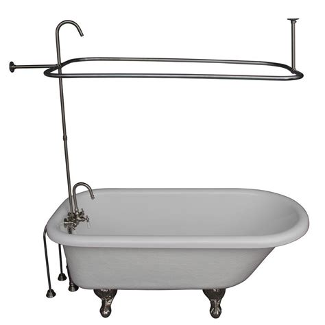 ball and claw bathtub barclay products 5 ft acrylic ball and claw feet roll top