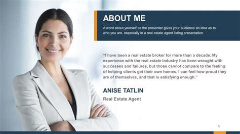 Design Your Own Home Download Professional Real Estate About Me Powerpoint Slide