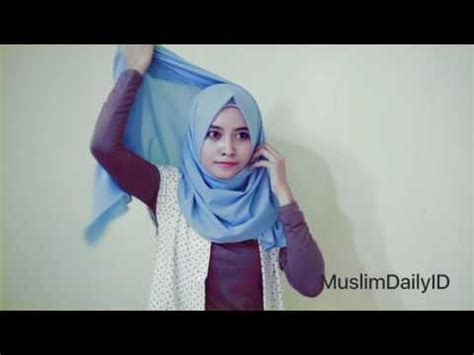 tutorial hijab simple untuk hari raya tutorial hijab simple untuk kuliah kus sehari hari